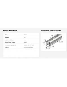COLUMNA CANTILEVER MECALUX 2500x180x90mm