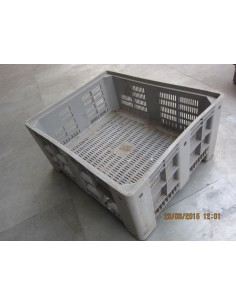 CONTENEDOR PLASTICO APILABLE  1010x1010x580 GRIS